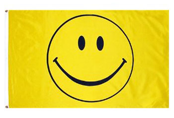 Nylon 3x5 Smiley Face