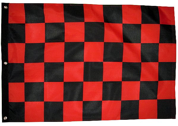 black and red checker utv flag