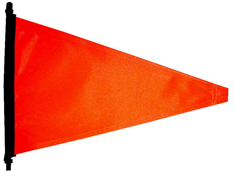Orange bicycle safety flag