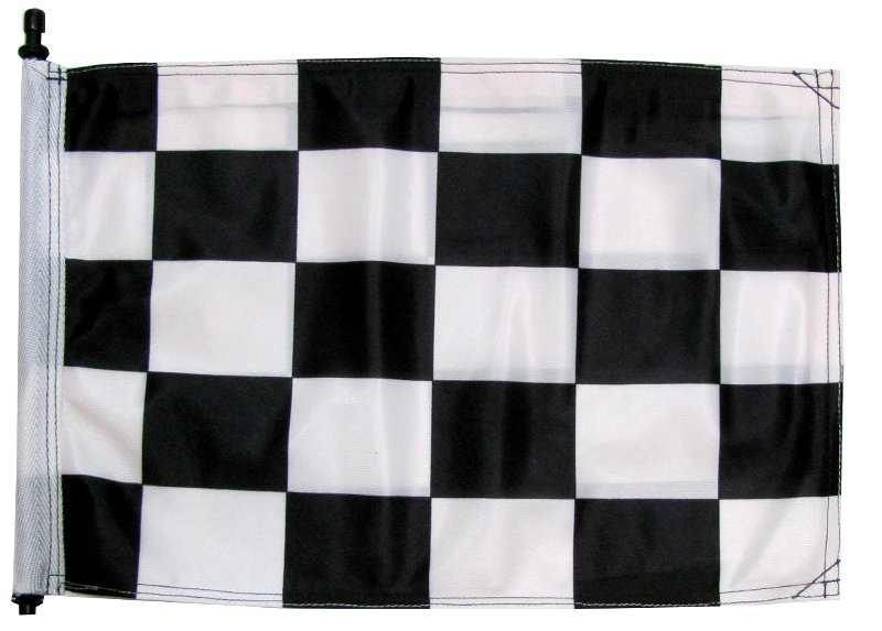 Black and white checker atv flag