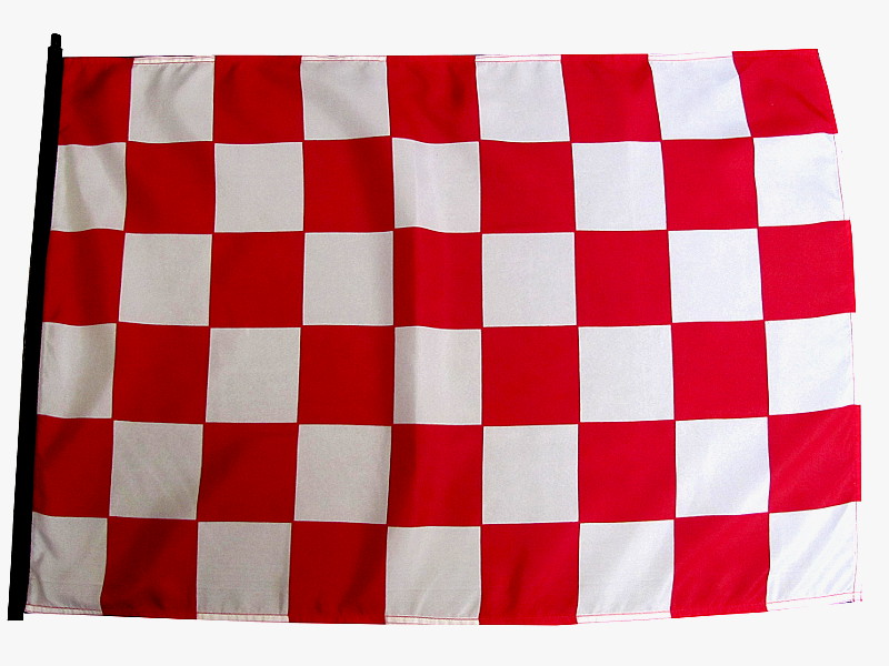 Red and white checker atv flag