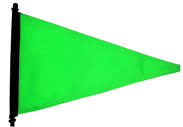 High visibility green flag