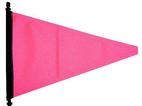 high visibility pink flag