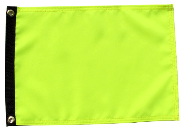 High visibility yellow atv flag