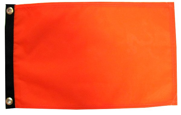 Orange Mesh Safety flag