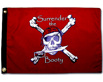 surrender the booty red atv flag