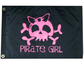 girl pirate atv flag