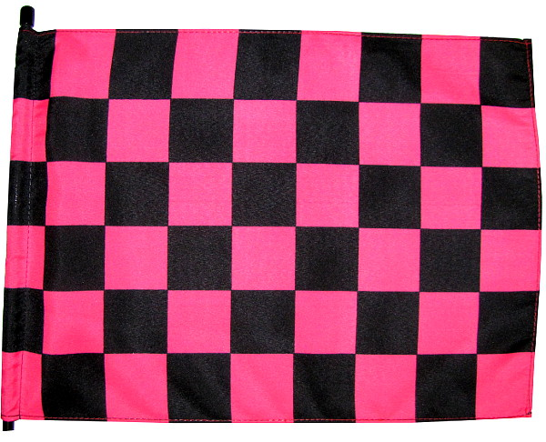 Pink and black checker atv flag