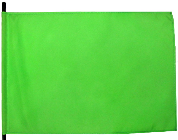 neon green blank bicycle flag