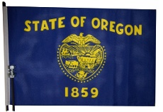 Oregon golf cart Flag