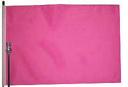 Pink bicycle flag