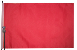 Solid Red blank bicycle flag