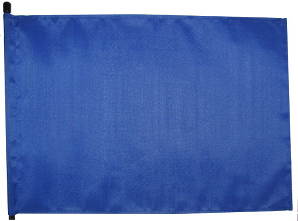 bright blue blank safety flag