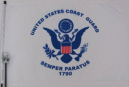 Coast Guard golf cart Flag