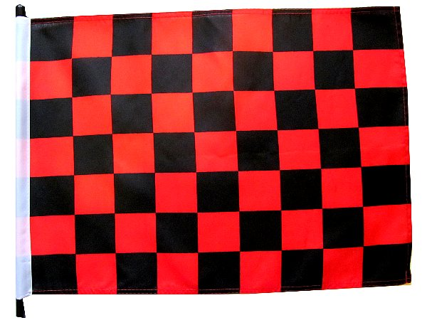 Black and red checker Bicycle Flag